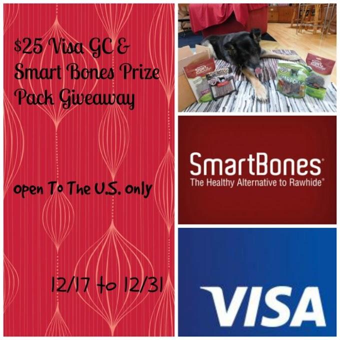 $25 Visa GC & SmartBones Prize Pack Giveaway