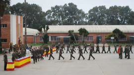 Entrega de los certificados a los soldados