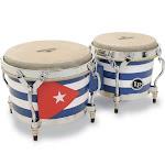 Latin Percussion M201QBA Matador Cuban Flag Bongos