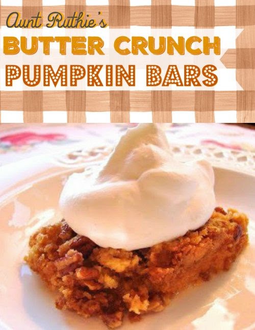 butter crunch pumpkin bars