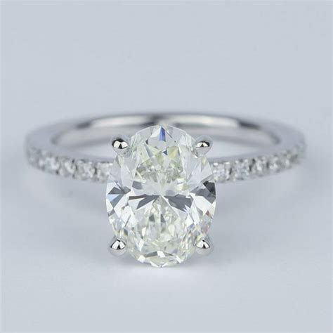 Pave Oval Cut Diamond Engagement Ring (2 Carat)
