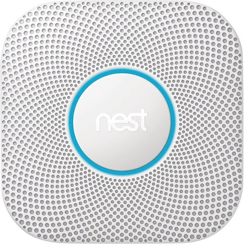 Nest Protect Smoke Sensor - Wi-Fi/Bluetooth 4.0 LE - Android/iOS - White