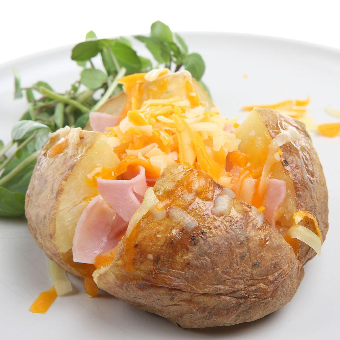 Ham Baked Potatoes