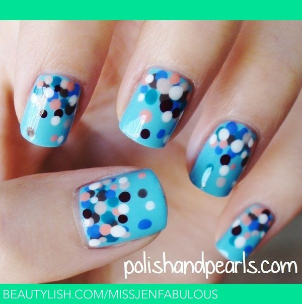 Polka Dot Nails | MissJenFabulous F.'s (missjenfabulous) Photo | Beautylish