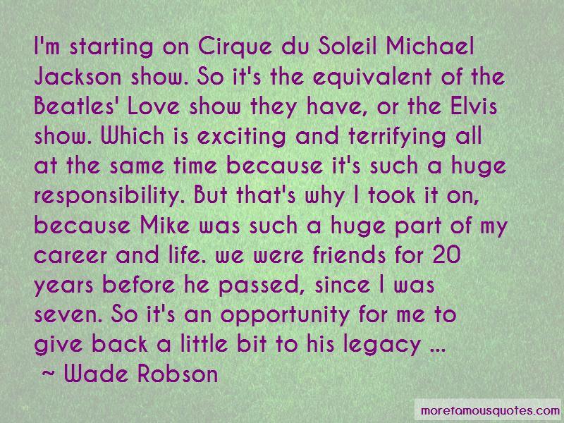 Michael Jackson Cirque Du Soleil Quotes Top 1 Quotes About Michael