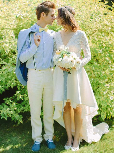 Pear inspired wedding theme   Blue & Yellow colour scheme