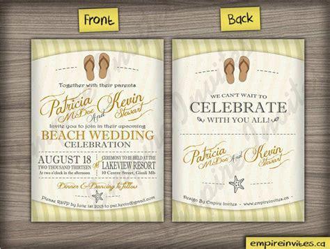Custom Beach wedding invitations From Winnipeg, Canada