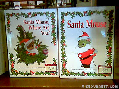 Photo: Books about - gasp! - Santa Mouse!