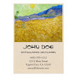 SOLD! - Wheat Fields with Reaper at Sunrise Van Gogh Large Business Card
