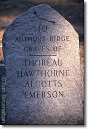 Authors' Ridge Stone, Concord MA