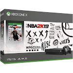 Microsoft Xbox One X 1TB Gaming System and NBA2K19 Gaming Bundle - White