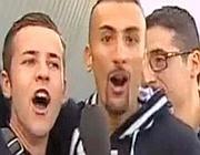 I due tifosi juventini ripresi dal Tgr Piemonte