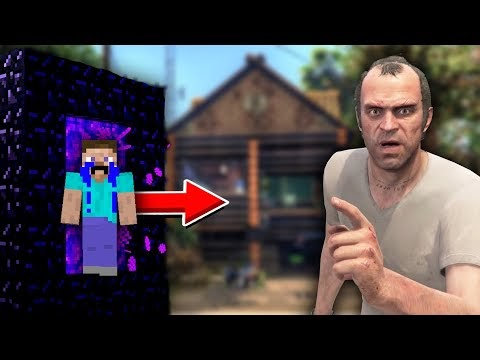Steve Gave His House To ANGRY Trevor !! (Minecraft GTA 5 Collab)