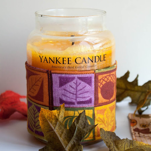 Candle Cozy Tutorial and Fall Yankee Candles - Nap-time Creations