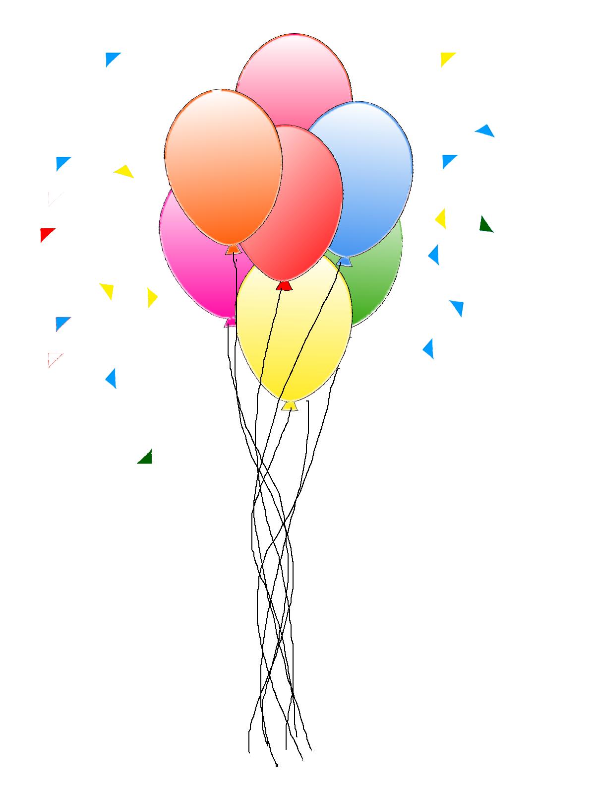 Cake Birthday Art And Clip Balloons