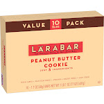 Larabar Peanut Butter Cookie Nutrition Bar - 16oz - 10ct