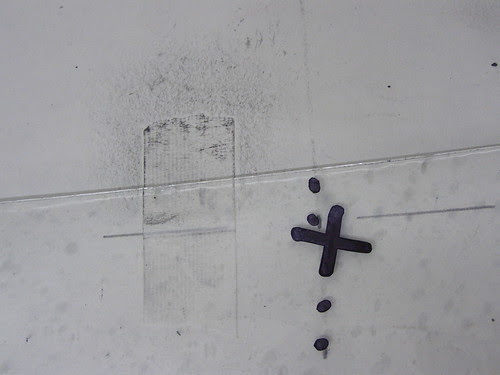 Spatial Drawings on Paper and Glass. #14 by Russell Moreton
