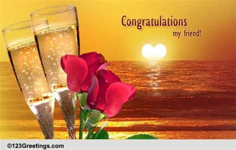 Congratulations My Friend! Free Wedding Etc eCards