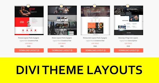 Divi Theme layouts from Divi community - Divi Theme Examples