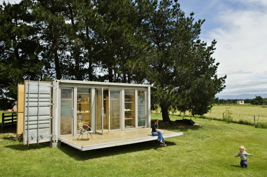 Port-a-Bach. A Holiday Shipping Container Home