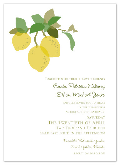 wedding invitations - Citrus Charm