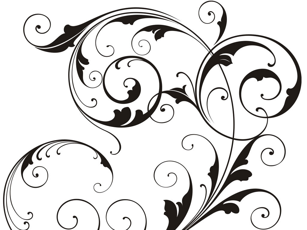 Free Black And White Swirl Design Download Free Clip Art Free Clip