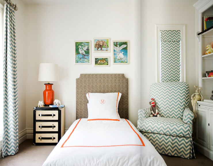 Chevron Curtains - Contemporary - boy's room - Diane Bergeron ...