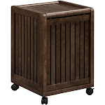 NewRidge Home Goods 2214-ESP Home Solid Wood Abingdon Mobile Rolling Multiple Colors Laundry Hamper with Lid