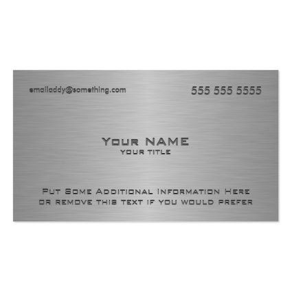 Modern Metallic Texture Print Business Card Templates