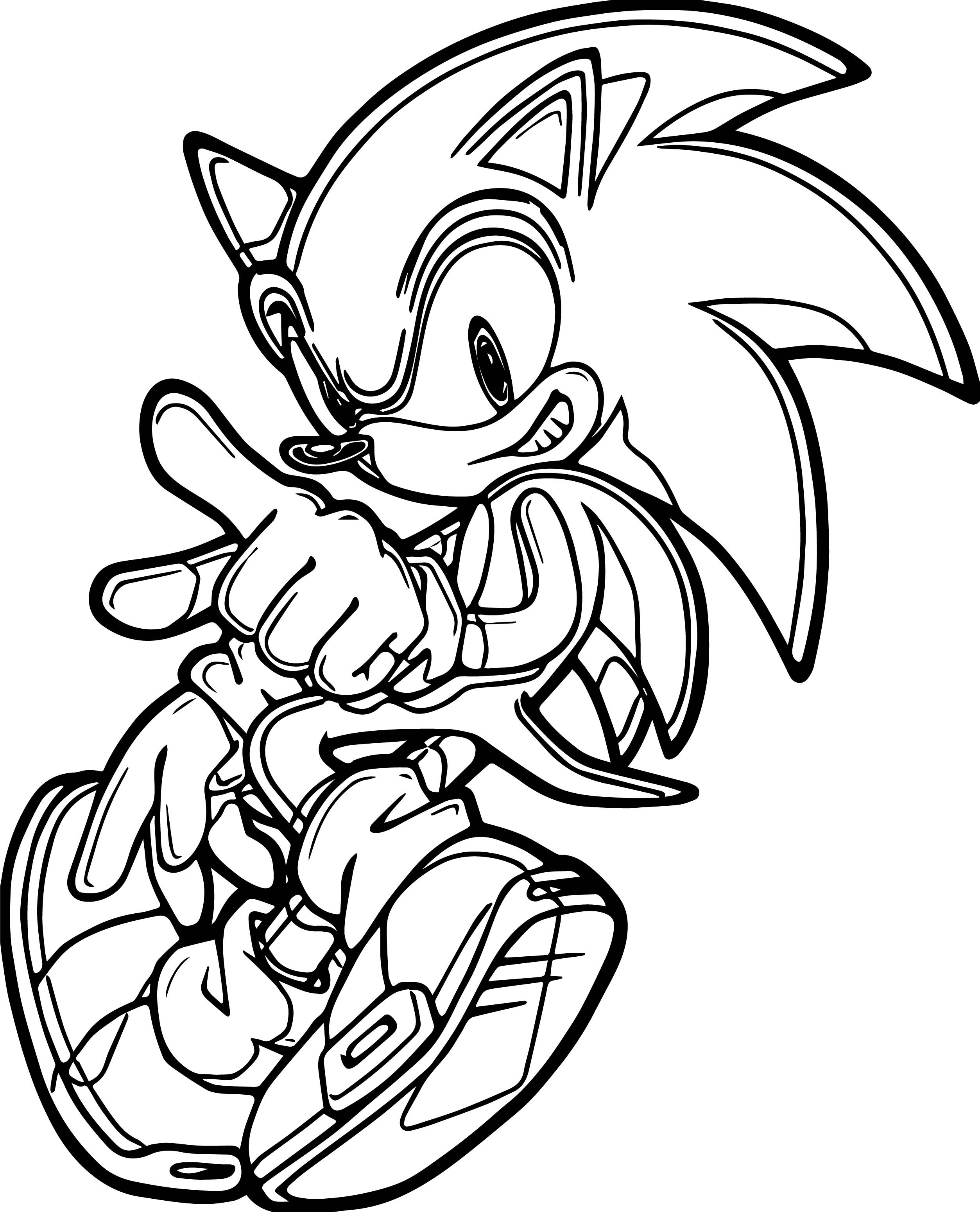 Sonic The Hedgehog Coloring Pages - Learny Kids
