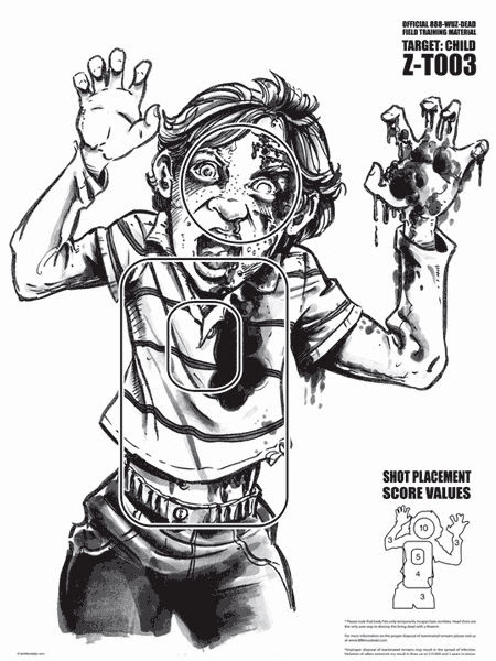 paper zombie targets