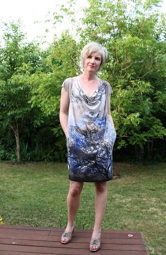 mini drape tree dress