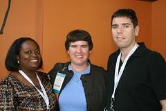 Tinu, Becky McCray and Andy Hayes at Blogworld 2010 by ShashiBellamkonda, on Flickr