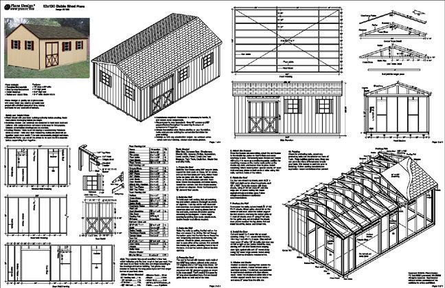Small Storage Buildings Free Shed Building Plans 12x20