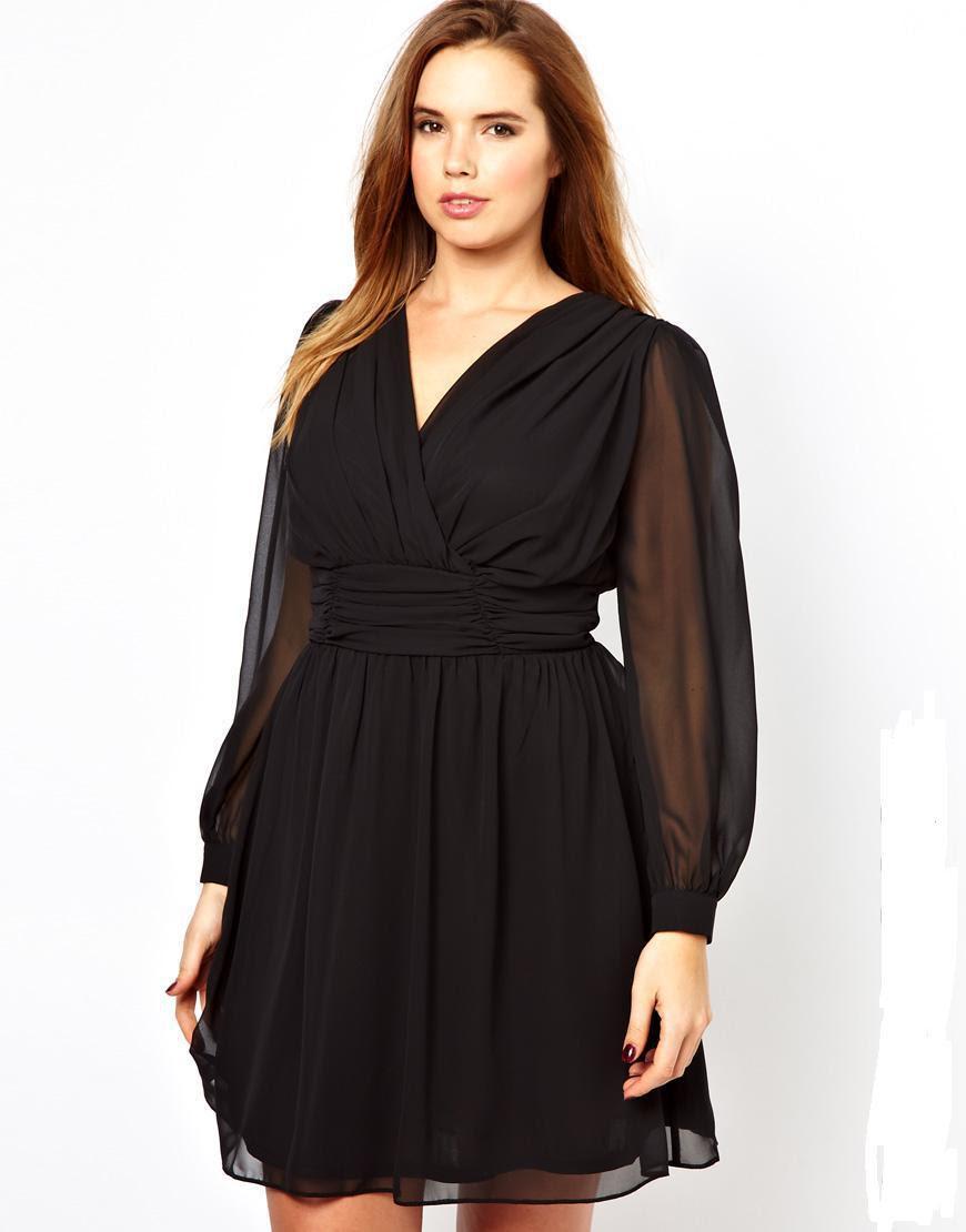 4XL Plus Size Women Vestidos Dresses 2015 XXXL Dress Female Sexy Black Chiffon Dress Ladies Big