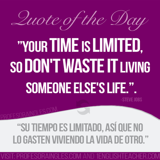 Learn English with Positive Optimistic Quotes translated into Spanish