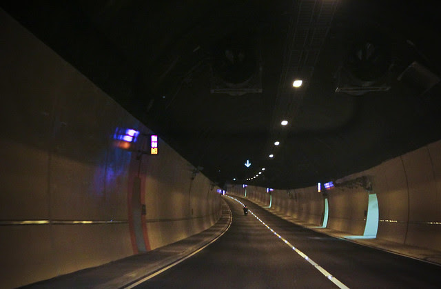 Recently opened Hindhead Tunnel on A3
