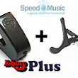 Ebow Plus Hand Held Sustainer: bundled with a Squeeze Guitar Capo - Speed Music