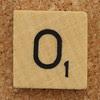 Wood Scrabble Tile O
