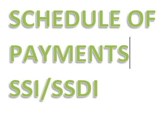 Monthly Payment Schedule for 2016 Social Security Disability