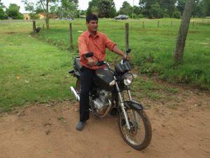 Motocicleta doada