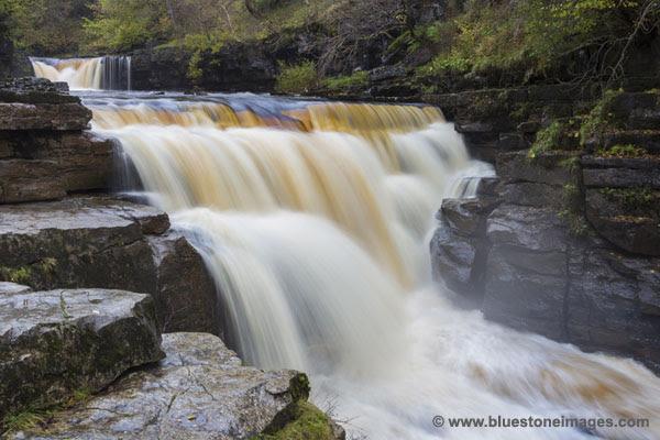 01M-5991 The River Swale at Kisdon Force Near Keld Swaledale Yorkshire Dales UK