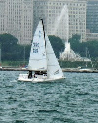 J/70 sailing at J-Day Regatta off Chicago