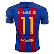 Amazon.com : 2016 2017 11 Neymar JR Home Football Soccer Jersey In Red Blue For New Season : Sports & Outdoors
