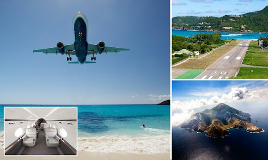 Take in the Caribbean's most spectacular airport landings