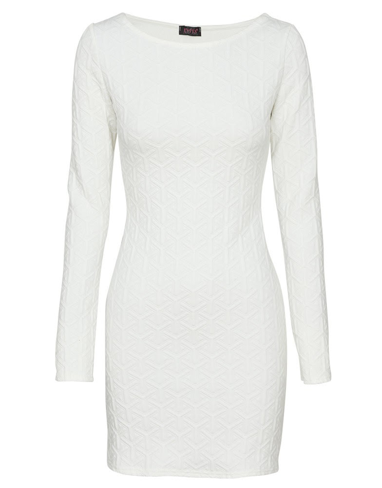 Sleeve wedding bodycon dress long white july meaning