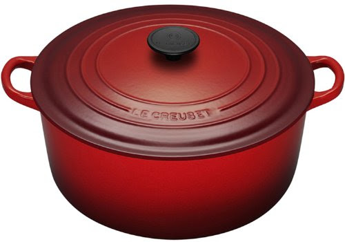 Le Creuset Enameled Cast-Iron 7-1/4-Quart Round French Oven, Cherry Red | Best Kitchen Cookware Sets