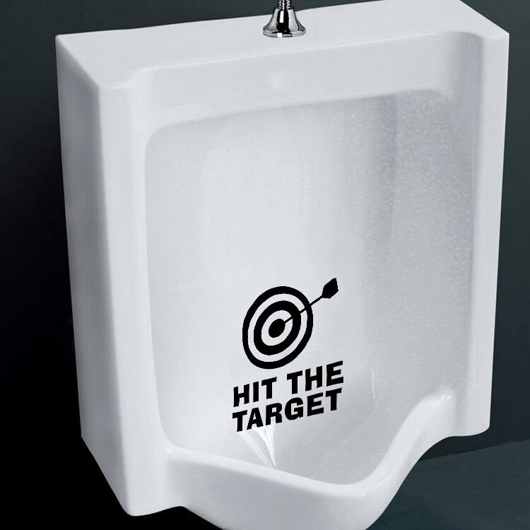 Funny Hit the Target Toilet Seat Vinyl Decals Removable Bathroom Wall Sticker  eBay