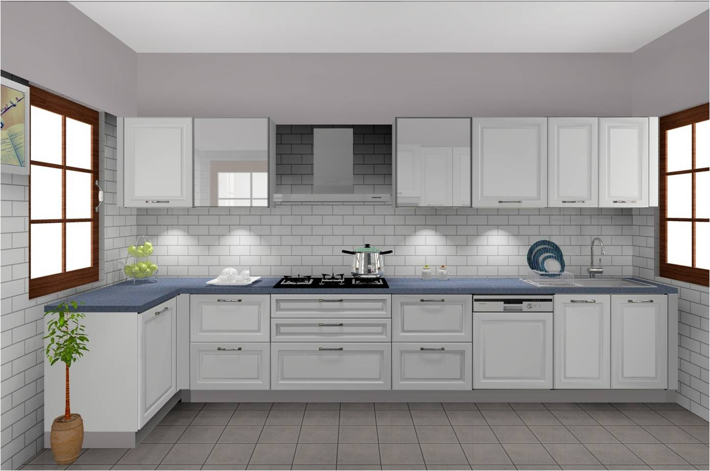 Home Architec Ideas Modular Kitchen Design Grey And White
