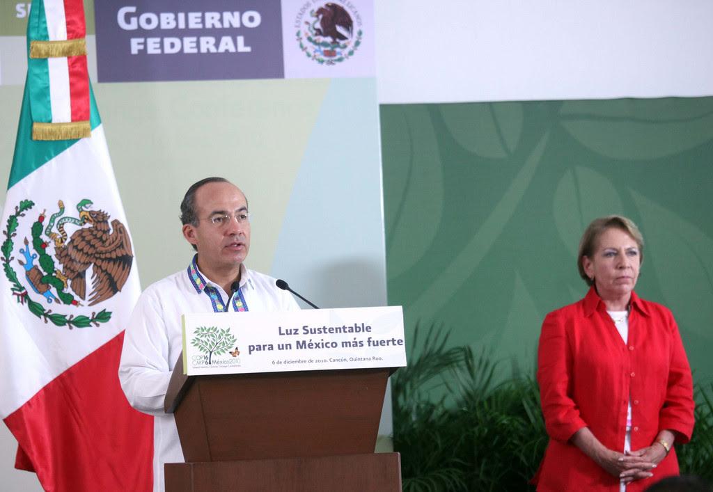 Felipe Calderón y Georgina Kessel. Foto: Gobierno de la República/Flickr